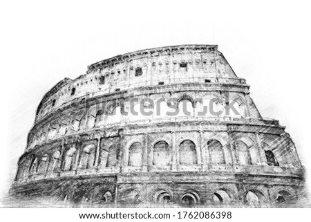 Pencil Drawing Style - Coliseum