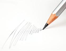pencil draws on a white paper