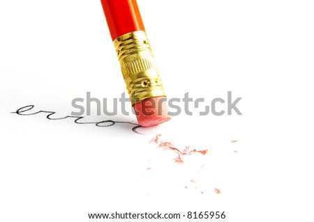 "Pencil erasing an ""error"""