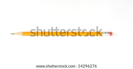 pencil isolated against white background