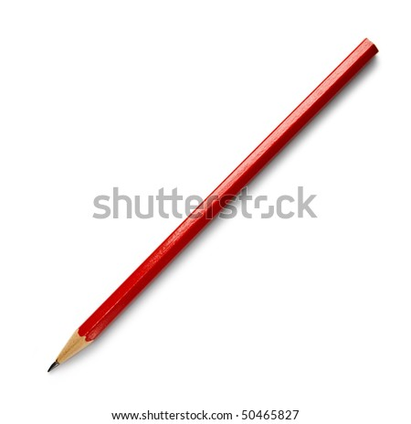 Pencil isolated on the white background