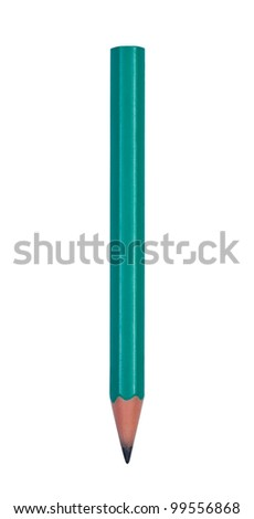 Pencil isolated on white clipping path.