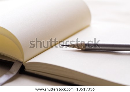 Pencil on a Note Pad prepared to write