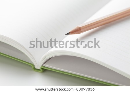 Pencil on a Notepad prepared to write