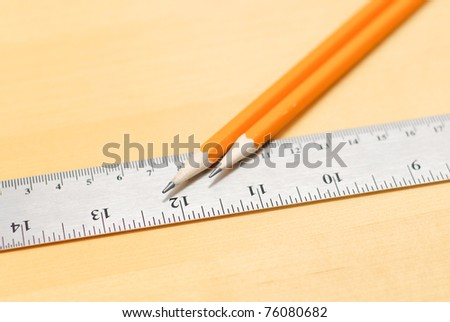 Pencil on Ruler