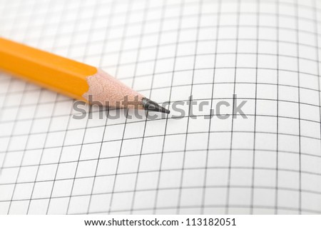 pencil on the graph paper