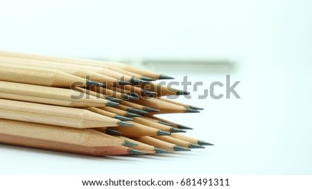 pencil on white background #681491311
