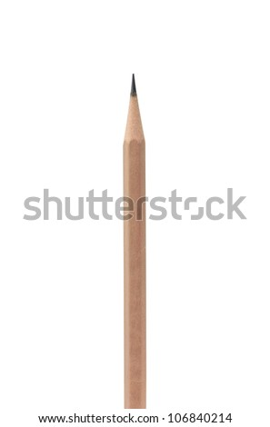 pencil on white background (clipping path)