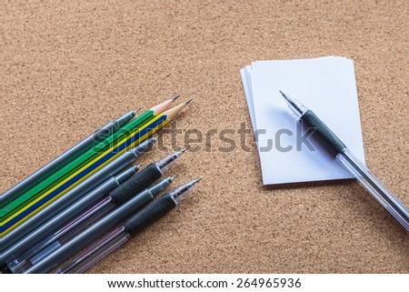 pencil pen and paper