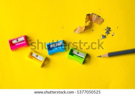 pencil sharpener colored background