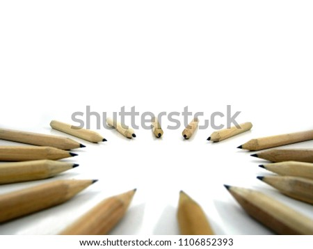 Pencils arrange Circular on white background   #1106852393