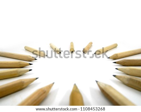 Pencils arrange Circular on white background #1108453268