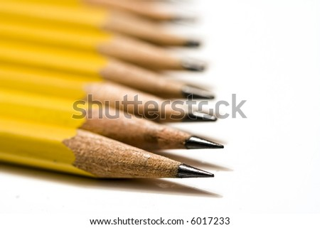 pencils arranged in an abstract pattern great background - stock photo
