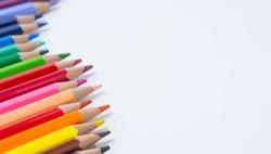 pencils color on white background , pencils color group