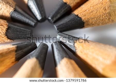 pencils forming a circle #1379591786