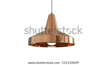 Pendant Lamp Cool Concept Design 3D Illustration Isolated on white