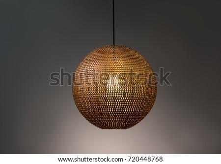 Pendant light lamp illuminated, Elegant Chandelier illuminated #720448768