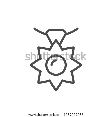 Pendant line icon isolated on white