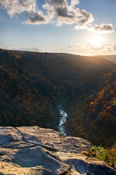 Pendleton Point Overlook in West Virginia at sunset