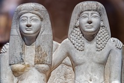 Pendua and Nefertari Statue famous husband and wife of ancien Egypt