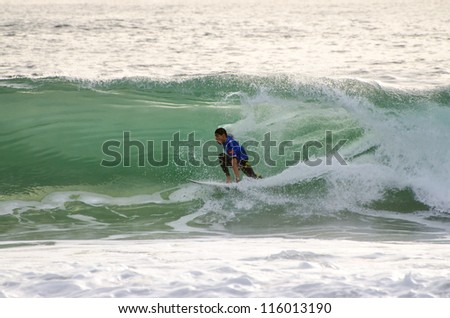 PENICHE, PORTUGAL - OCTOBER 13 : Heitor Alves (BRA) during the Rip Curl men's Pro Portugal, October 13, 2012 in Peniche, Portugal
