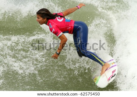 PENICHE, PORTUGAL - OCTOBER 07 :Silvana Lima (BRA) in Rip Curl Women's Pro Portugal, October 7, 2010 in Peniche, Portugal