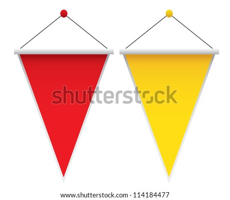 Pennants on white background