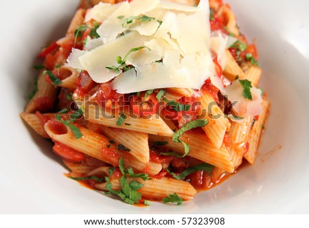penne pasta with cheese