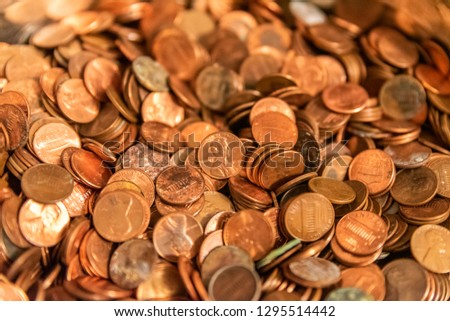 Pennies coins money Сток-фото ©