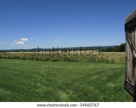 Pennsylvania Field and Barn Door, Eisenhower Farm at Gettysburg