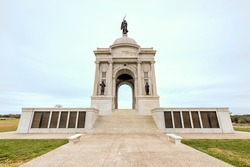 Pennsylvania Memorial monument at the Gettysburg National Military Park, Pennsylvania.
