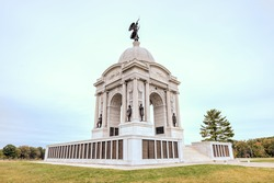 Pennsylvania Memorial monument at the Gettysburg National Military Park, Pennsylvania