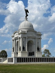 Pennsylvania Monument in Gettysburg National park