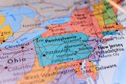 pennsylvania on the map