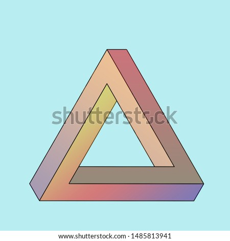 Penrose Triangle. Illustration. Triangle on a clean background