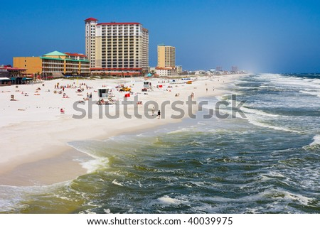 Pensacola Beach in Florida - stock photo