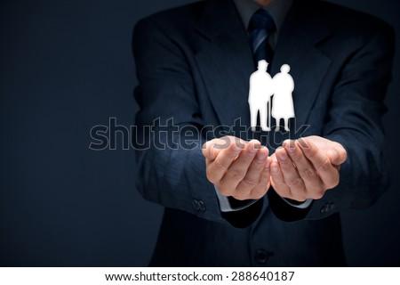 detail pension insurance senior business life insurance and support seniors concepts 288640187 business life concepts