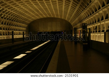 Pentagon City metro Station Washington DC