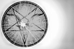 Pentagram Symbol in the Satanic Bible., Five pointed star, Satan's symbol the Satanic Bible.