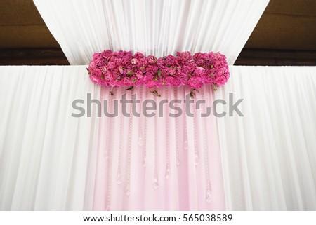 peony wedding decoration #565038589