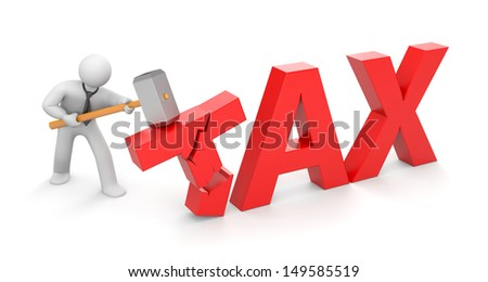 People against taxes Stock photo ©