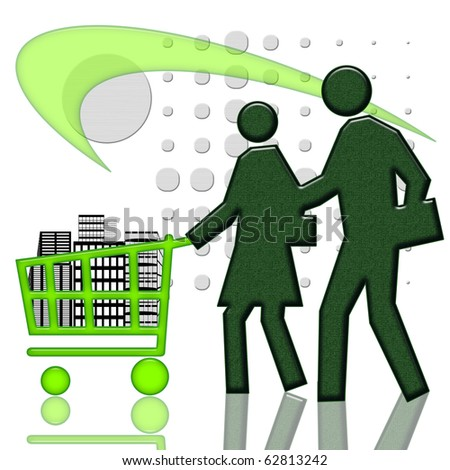 People and real estate in consumer cart