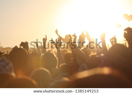 people at open air festival