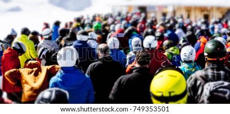 People at ski lift #749353501