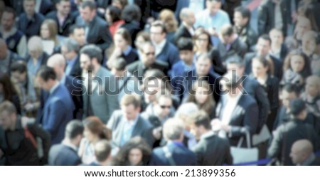 People banner, intentionally blurred post production