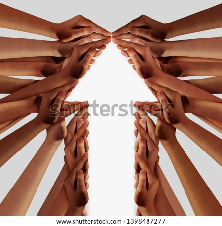 People business group as a diverse team working together for reaching financial success as a composite image. #1398487277