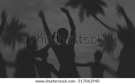 People Celebration Beach Party Summer Holiday Vacation Concept #317062940