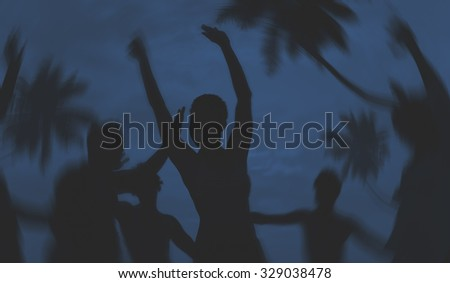 People Celebration Beach Party Summer Holiday Vacation Concept #329038478