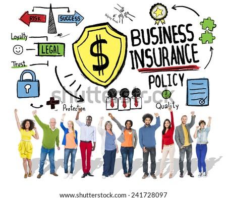 People Celebration Safety Risk Business Insurance Concept