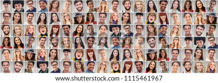 People collage portrait very wide #1115461967